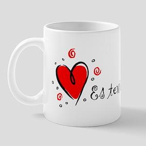 """I Love You"" [Latvian] Mug"
